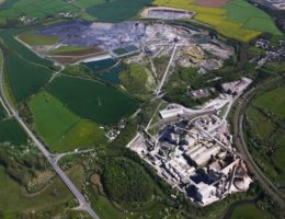 Mining Site Aerial View