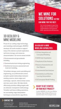 Flyer image for 3D Geology & Mine Modeling