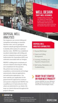 Flyer image for Disposal Well Analyses