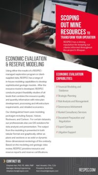 Flyer image for Economic Evaluation & Reserve Modeling