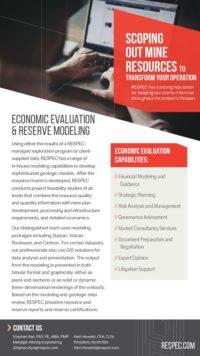 Flyer image for Economic Evaluation & Reserve Modeling
