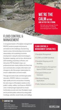 Flyer image for Flood Control & Management