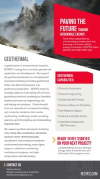 Flyer image for Geothermal