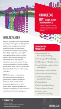 Flyer image for Groundwater