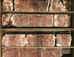 Rock and brick stacked