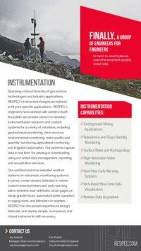 Flyer image for Instrumentation