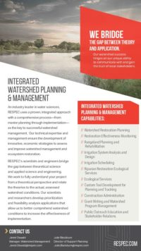Flyer image for Integrated Watershed Planning & Management