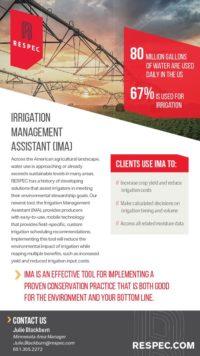 Flyer image for Irrigation Management Assistant (IMA)