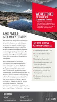 Flyer image for Lake, River, & Stream Restoration
