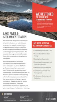 Flyer image for Lake, River, & Stream Restoration