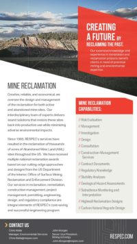 Flyer image for Mine Reclamation