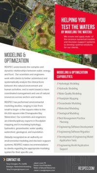 Flyer image for Modeling & Optimization