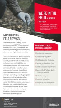 Flyer image for Monitoring & Field Services