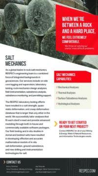 Flyer image for Salt Mechanics