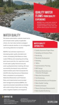 Flyer image for Water Quality