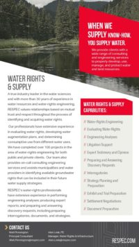 Flyer image for Water Rights & Supply