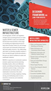 Flyer image for Water & Sewer Infrastructure