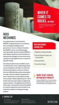 Flyer image for Rock Mechanics