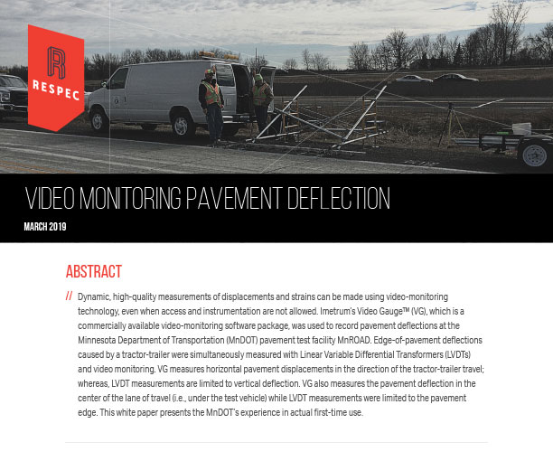 Video Monitoring for Pavement Deflection